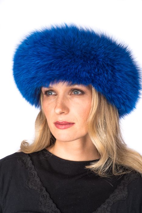 royal-blue-fox-fur-headwrap