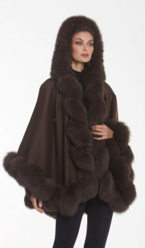 brown-cashmere- cape-hooded
