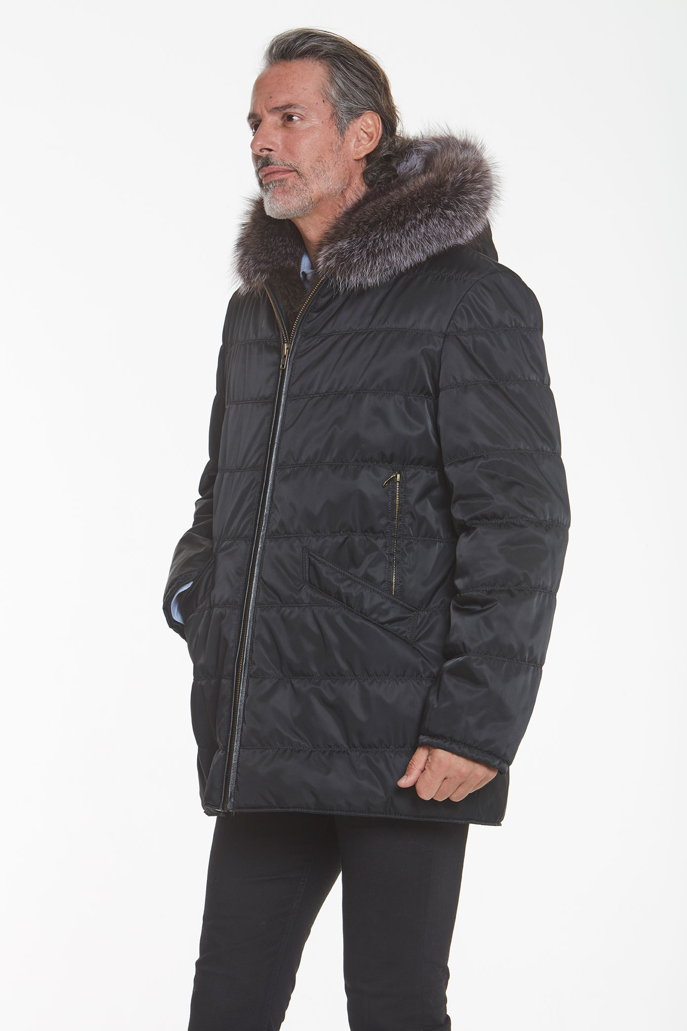 men's fur lined jacket