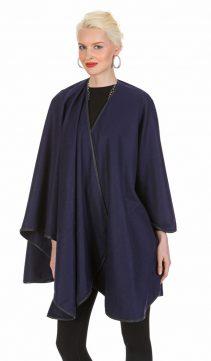 navy cashmere cape